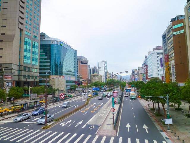 台湾のオフィス街