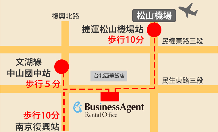 Serviced Office access map
